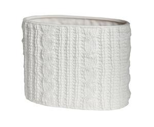 Vase céramique, blanc – H12