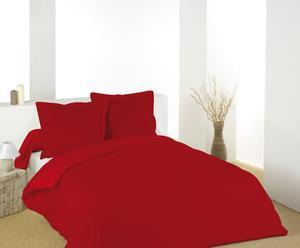 Housse de couette et Taie d'oreiller Coton, Rouge - 200*140