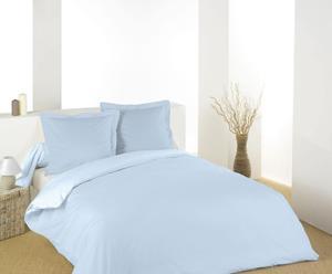 Housse de couette et 2 Taies d'oreiller Coton, Bleu - 200*200