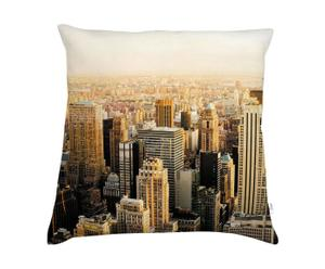 Coussin New York Sunset Coton et lin, Multicolore - 60*60