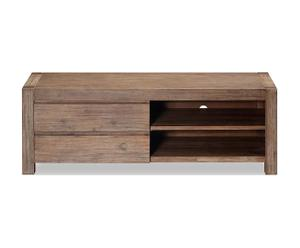 Meuble TV Acacia, Naturel - L130
