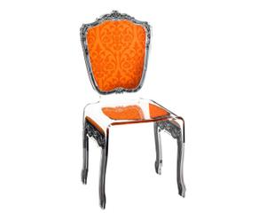 Chaise baroque Verre, Orange - L45