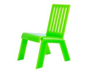 Chaise de jardin barreaux, vert – L46