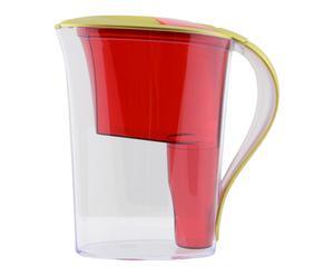 Carafe TERAILLON Plastique, Rouge et doré - 12*8