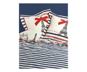 Housse de couette  et 2 taies d'oreiller PARIS Coton, Multicolore - 200*200