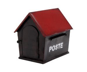 Boîte aux lettres Fer, Noir et rouge - H29