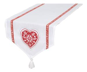 Chemin de table Coton, Rouge et Blanc - L150