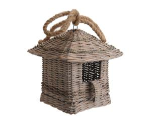 Maison à oiseaux Rotin, Naturel  - H23