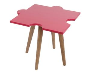 Table d'appoint, Rose et Naturel - L55