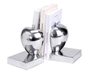 Paire de serre-livres Aluminium, Argenté - H17