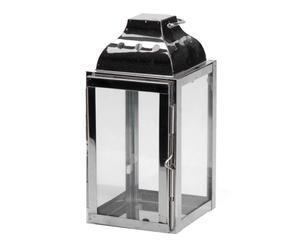 Lanterne inox, Argenté - H20