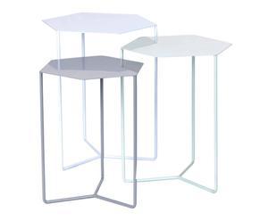 3 Tables gigognes, Métal - Multicolore