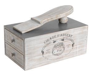 Boîte à cirage Sapin, Gris - L37