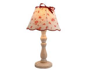Lampe à poser Bois, fleurs – H40