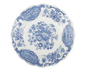 3 Sous-tasse Porcelaine, Blanc et bleu - Ø16
