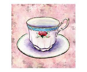 Peinture sur toile tasse II, lin – 20*20