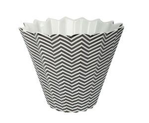 VASE Porcelaine, Gris - H17