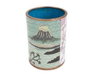 Pot à crayons  Fuji, Cuivre émaillé - H11