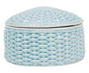 Boîte KARLA Porcelaine, Bleu clair - 13*13