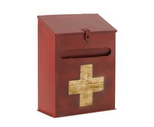 Boîte aux lettres fer, Rouge et beige – H36