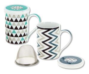 Mug Porcelaine, multicolore - Ø7
