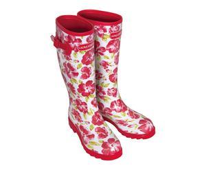 Paire de bottes caoutchouc, Rouge et blanc - TAILLE 37