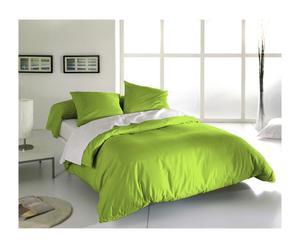Drap plat et 1 taie CARA Coton 57 fils/cm², Vert citron - 290*180