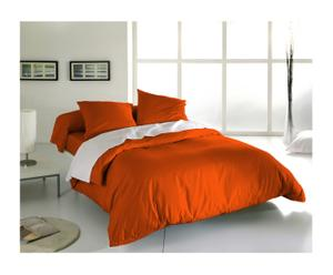 Parure de lit simple CLEO Coton 57 fils/cm², Orange - 200*140