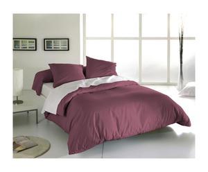 Parure de lit simple BREE Coton 57 fils/cm², Aubergine - 200*140