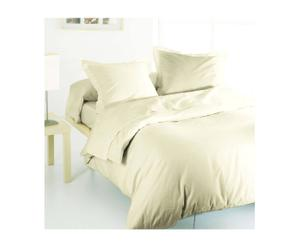 Drap plat et 2 taies en satin de coton JULIA Coton 110 fils/cm², Ecru - 300*240