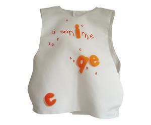 Veste tablier pour enfant TARI, Coton et polyester, Orange et blanc  - 40*40