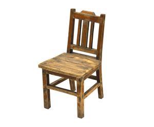 Chaise enfant bois, marron - H56