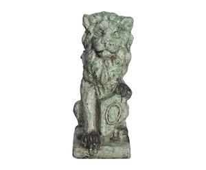 Statue terre cuite, vert - H69