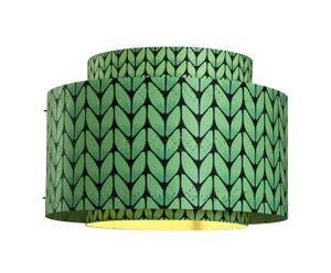 Abat-jour LOOMA Bigknit papier, vert – Ø34