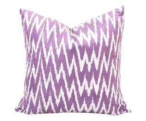 Housse de coussin THISTLE CHEVRON soie et coton, violet et blanc - 50*50