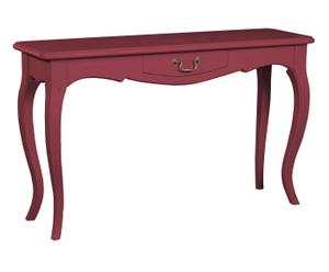 Console pin massif, Rouge - L135