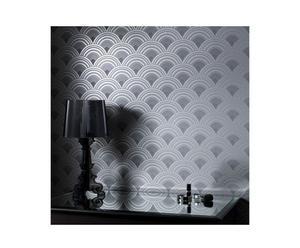3 Rouleaux de papier peint Ennis, Motifs en relief, Noir - 3*10M