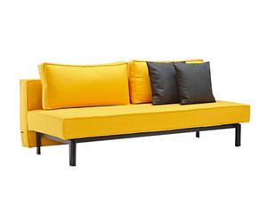 Canapé convertible Sly, jaune – L200