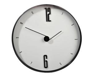 Horloge verre et acier, Noir et blanc  – Ø30