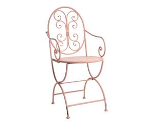 Chaise fer, Rose - L46