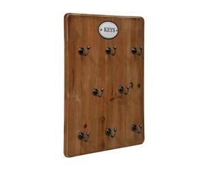 Armoire à clés bois, naturel – 27*36