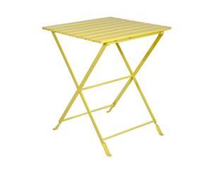 Table métal et bois, jaune – L60