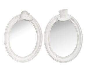 2 miroirs, blanc – 24*32