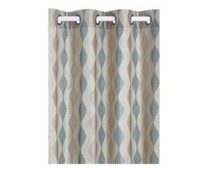 Rideaux ELLIPSE Coton et polyester, Bleu et gris - 140*300