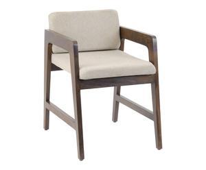 Chaise haute Bois, Marron et beige - L64