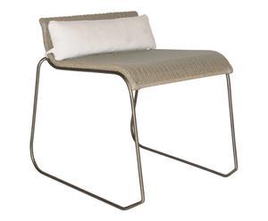 Chaise  Rotin et métal, Taupe - L57