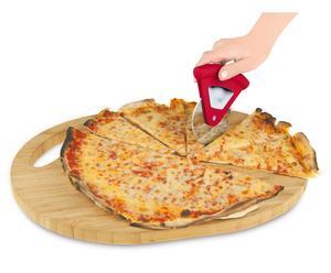 Roulette à pizza Inox et polypropylène, Argent et rouge - H11