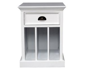 Table de chevet acajou, blanc – L45