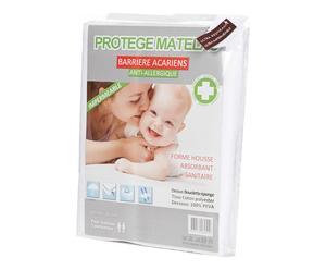 Protège matelas KAI Coton et PVC imperméable, Blanc - 190*90