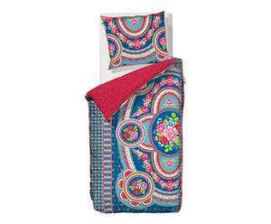 Housse de couette et Taie Folklore Coton, Bleu et rouge - 200*140